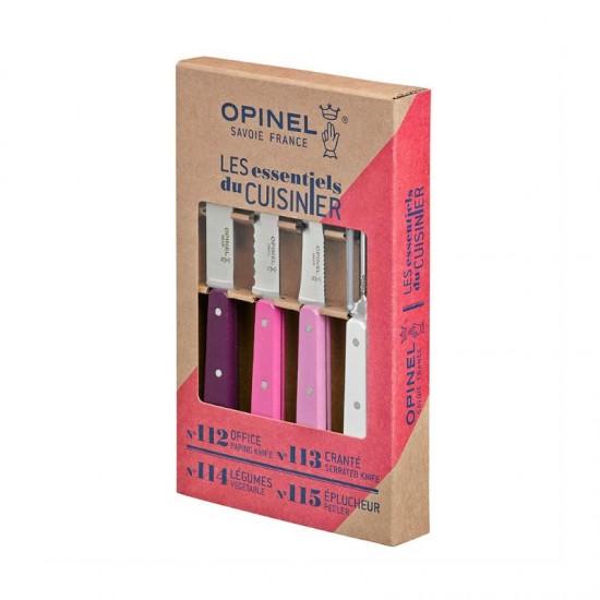 Набор ножей Opinel Les Essentiels Primarosa, нержавеющая сталь, (4 шт./уп.), 001736