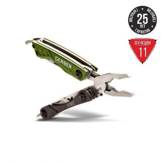 Мультитул Gerber Outdoor Dime Micro Tool, зеленый, блистер, (1014031)