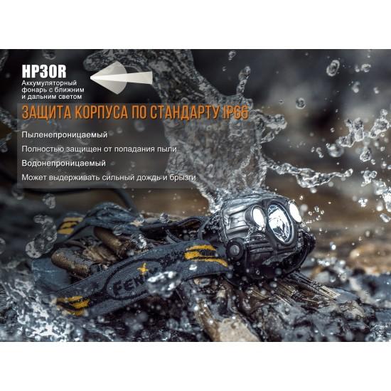 Налобный фонарь Fenix HP30R серый
