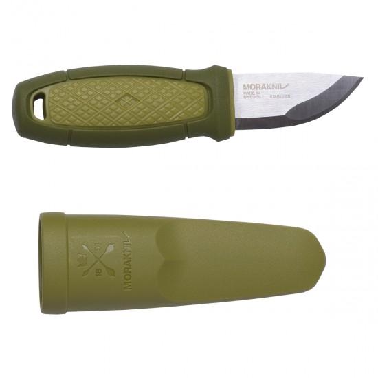 Нож Morakniv Eldris, нержавеющая сталь, цвет зеленый, с ножнами, 12651
