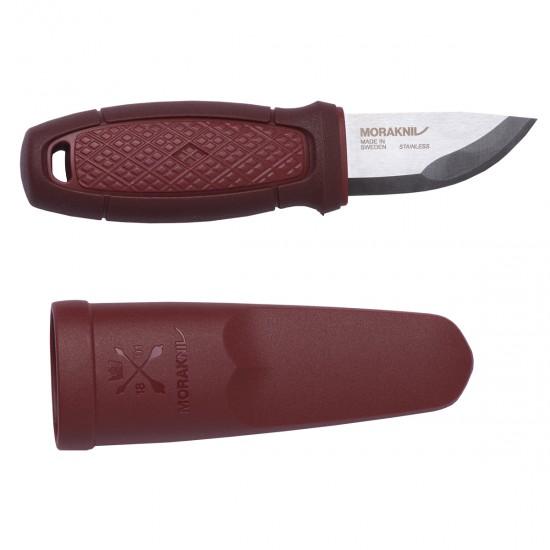 Нож Morakniv Eldris, нержавеющая сталь, цвет красный, с ножнами, 12648