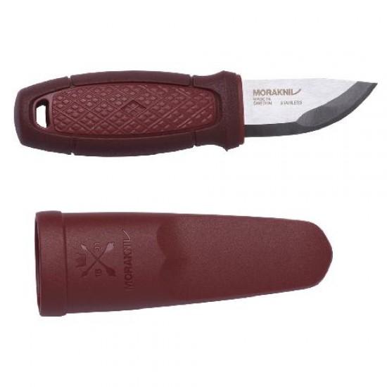 Нож Morakniv Eldris, нержавеющая сталь, цвет красный, ножны, шнурок, огниво, 13524