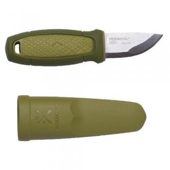 Нож Morakniv Eldris, нержавеющая сталь, цвет зеленый, с ножнами, 13514