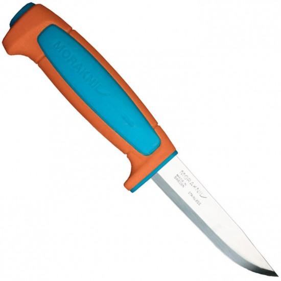 Нож Morakniv Basic 546, нержавеющая сталь, пласт. ручка (оранжевый), 13202