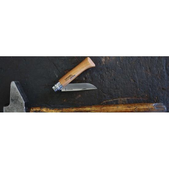 Нож складной Opinel №7, углеродистая сталь, рукоять из дерева бука, блистер