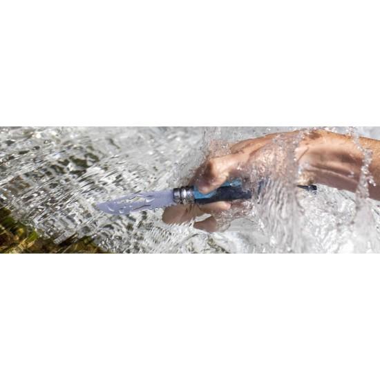 Нож складной Opinel №8 Outdoor, синий, блистер