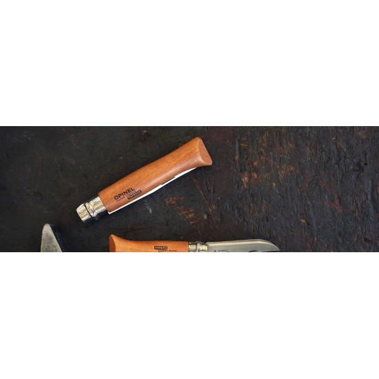 Нож складной Opinel №9, углеродистая сталь, рукоять из дерева бука, блистер