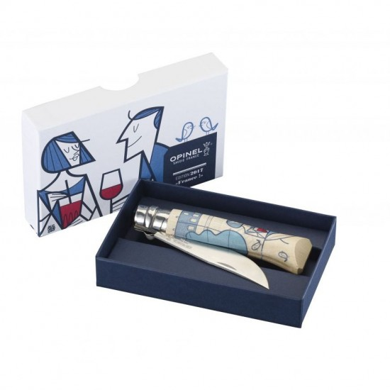 Нож складной Opinel №8, Edition France by Ale Giorgini