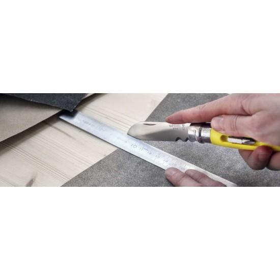 Нож складной Opinel №09 DIY, нержавеющая сталь, сменные биты, желтый, блистер (2138)