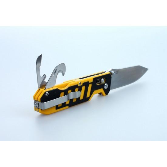 Нож складной Ganzo G735 черно-желтый