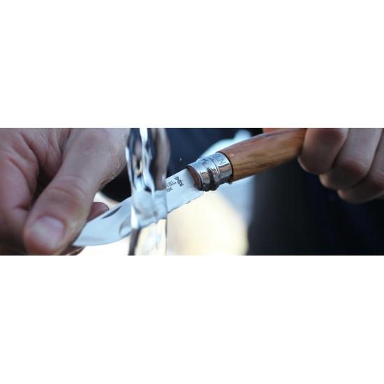 Нож складной Opinel №8, нержавеющая сталь, рукоять из оливкового дерева