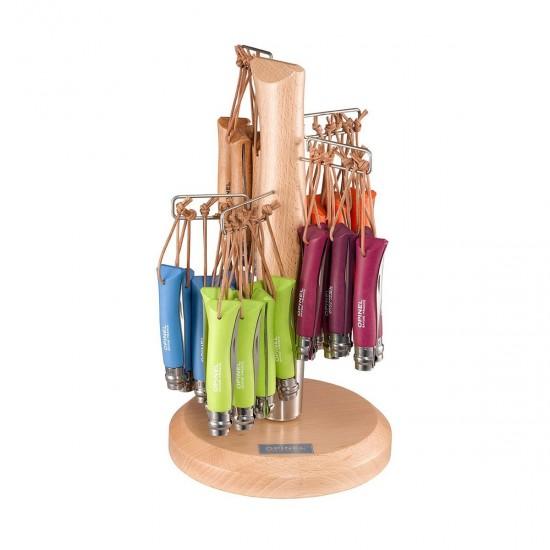 Набор-дисплей 60 шт: нож Opinel №7, нержавеющая сталь, голубой/оранжевый/зеленый/фиолетовый