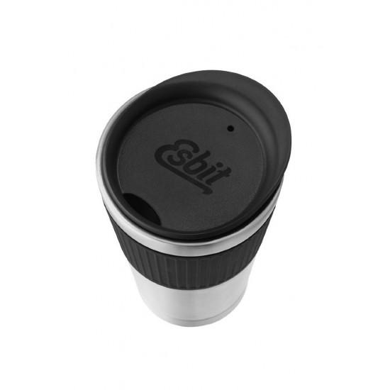 Термокружка Esbit SCULPTOR, из нержавеющей стали с резиновой накладкой, черная, 0.55 л
