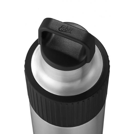 Термос Esbit SCULPTOR, из нержавеющей стали с резиновой накладкой, черная, 1.0 л