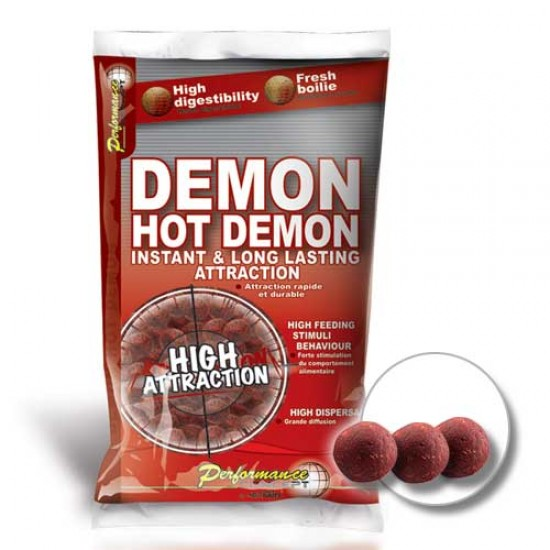 Бойлы тонущие Starbaits Performance Concept HOT DEMON Long Life Boilies 14мм 2.5кг