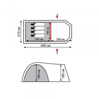 Палатка Totem Catawba 4 V2