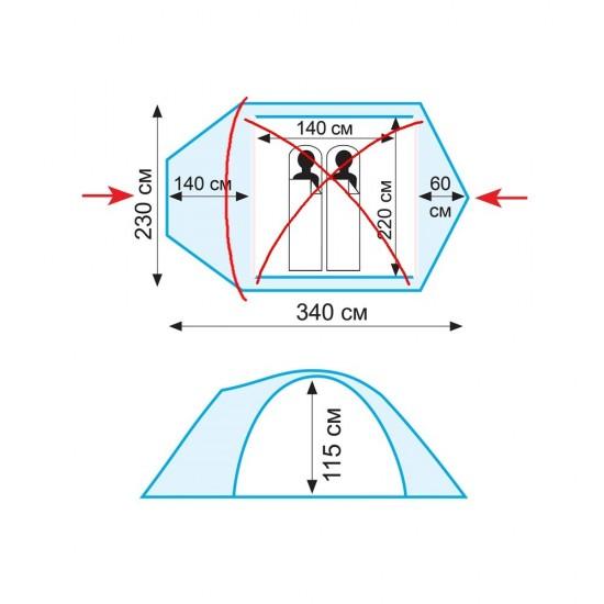 Палатка Tramp Lair 2 V2 TRT-38