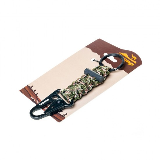 Брелок паракордовый для ключей (карабин/кольцо для ключей/огниво) Tramp TRA-236